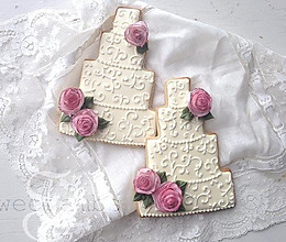 婚礼糖霜饼干及小玫瑰制作(翻译自sweetambs视频)的做法