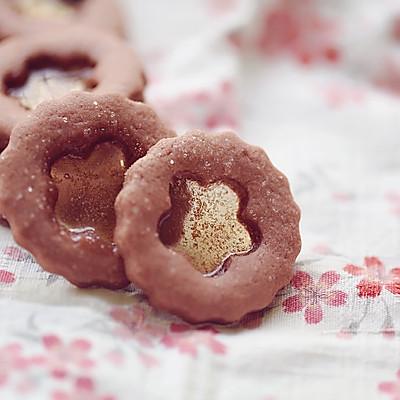 草莓玻璃心饼干