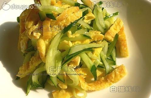 蛋丝黄瓜的做法