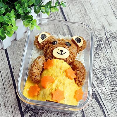 小熊酱油拌饭