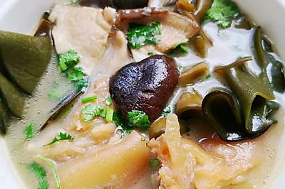 香菇裙带猪蹄汤(附当归枸杞猪蹄高汤做法)