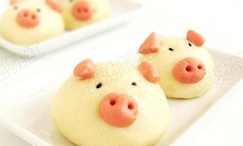 小猪豆沙包的做法