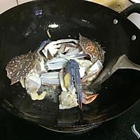 姜葱炒兰花蟹的做法图解4