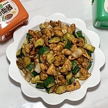 #一勺葱伴侣,成就招牌美味#家常菜~酱爆鸡丁