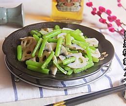 芹菜炒藕的做法