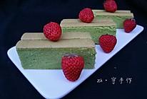 春天那一抹绿#日式菠菜棉花蛋糕#的做法
