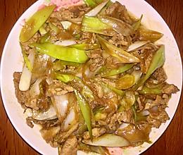 大葱炒肉的做法