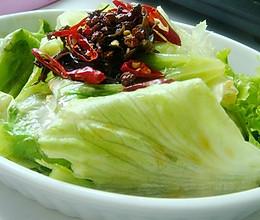 生菜新吃法~油淋生菜的做法