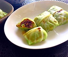 圆白菜包饭(附西兰花茎不浪费方法)—— 素食·一人食的做法