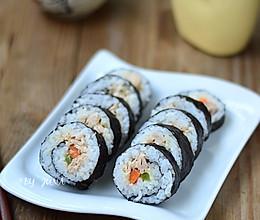 #丘比沙拉酱#金枪鱼手卷寿司的做法