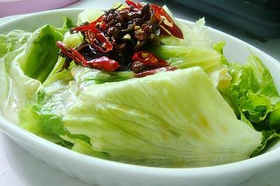 生菜新吃法~油淋生菜