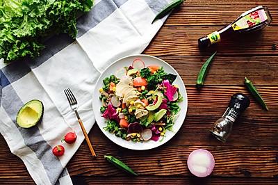 减脂增肌超低卡蔬菜沙拉