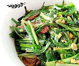 腊肠油麦菜的做法