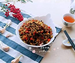 #2018年我学会的一道菜#下饭神器肉丁炒腌菜的做法