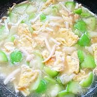 低脂美味的丝瓜菌菇鸡蛋汤的做法图解11