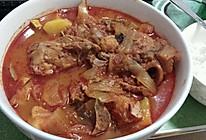 泡菜猪骨汤的做法