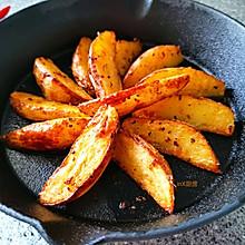 #夏日撩人滋味#五味烤薯条--带皮烤版