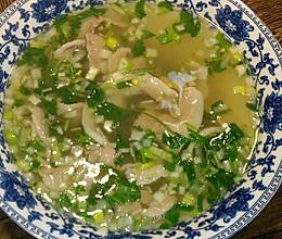 青山绿水羊肉片汤的做法