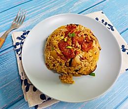 #憋在家里吃什么#香菇土豆腊肠焖饭的做法