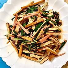 #餐桌上的春日限定#韭菜炒香豆干