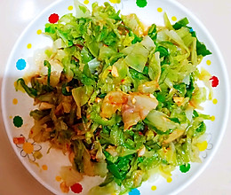 凉拌圆白菜卷心菜(过开水)的做法