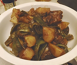 私房烧排骨豆角土豆的做法