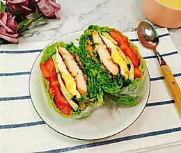 低脂不长胖!关晓彤同款蔬菜三明治,超好吃!的做法