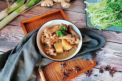 鸡腿骨炖土豆#肉食者联盟#