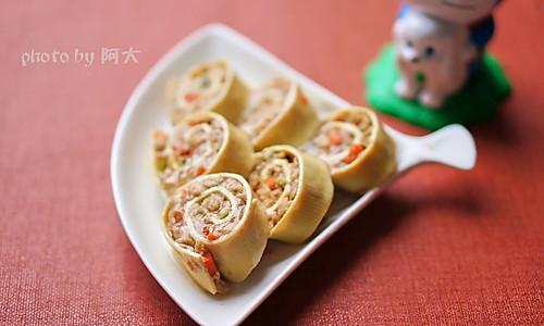 豆腐皮肉卷#方太一代蒸传#的做法