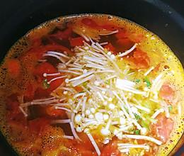 #中秋宴,名厨味金针菇柿子汤的做法