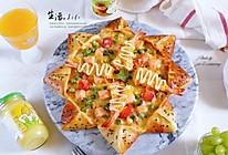 皇家至尊八角星大虾三文鱼披萨的做法