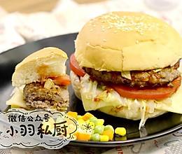 美式牛肉汉堡,一定要加这个料才对味儿。的做法