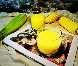 #换着花样吃早餐#早餐来杯~鲜榨玉米汁~湿润肠道的做法