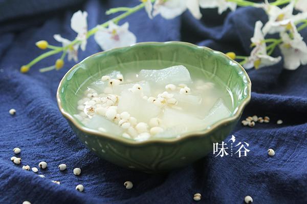 简单方便的消暑冬瓜薏米糖水的做法