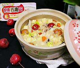 奶炖胖头鱼豆腐汤#好侍奶炖小方#的做法
