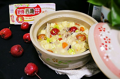 奶炖胖头鱼豆腐汤#好侍奶炖小方#