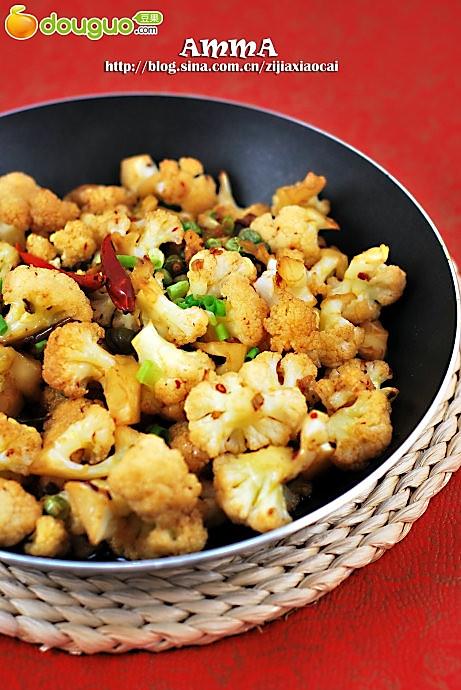 干煸豌豆菜花的做法