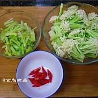 广式腊肠炒花菜#味极鲜味汁#的做法图解2
