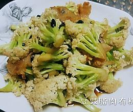 腊肉花菜的做法