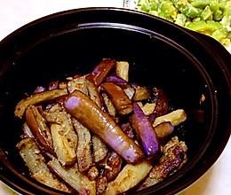 『广东家常菜』梅香茄子煲的做法