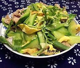 青瓜肉片炒蛋#肉肉厨的做法