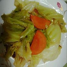 爆炒圆白菜西红柿