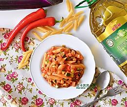 素食主义!蔬菜杂烩通心粉沙拉