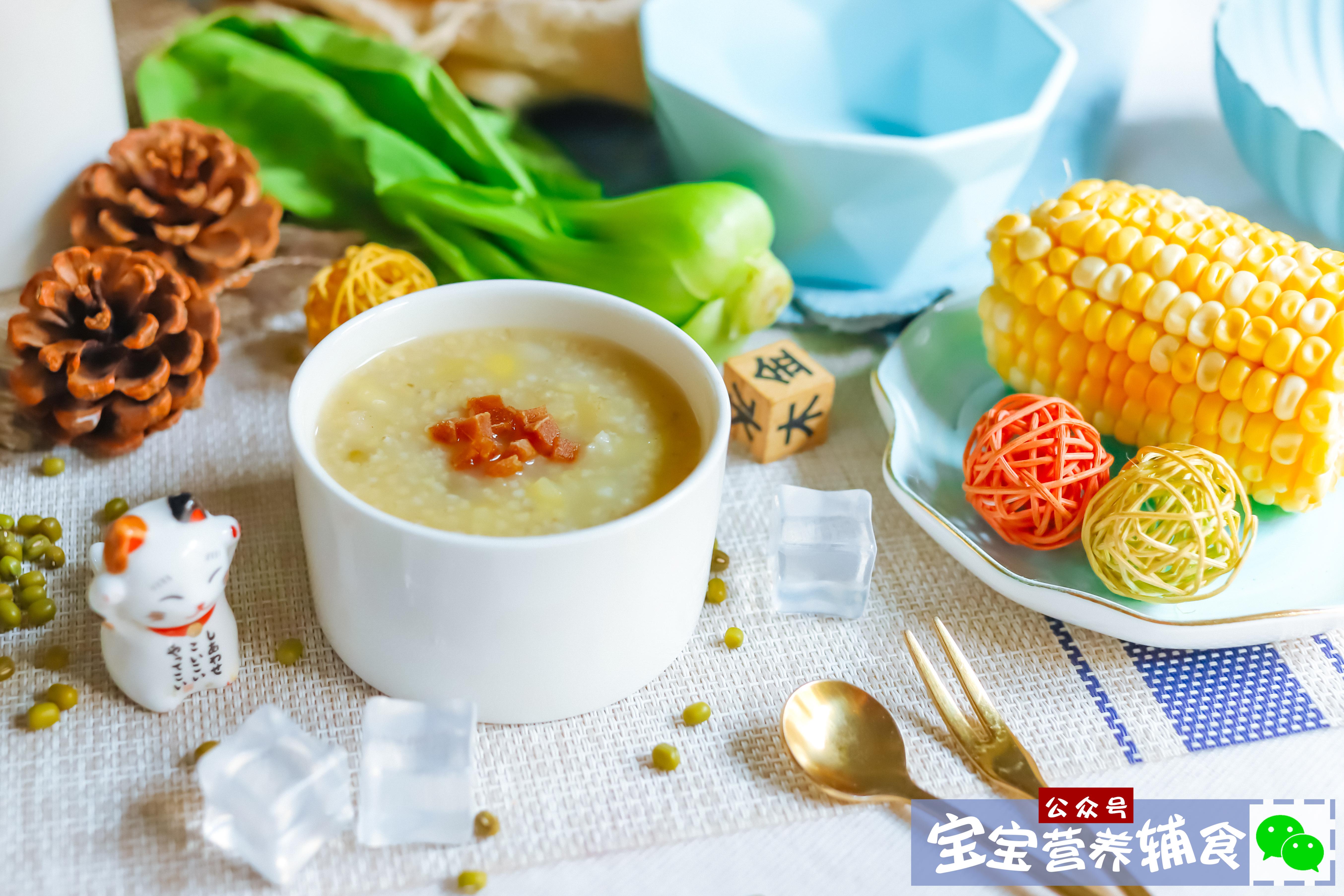 苹果绿豆小米粥