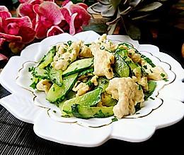 黄瓜炒鸡胸肉片-不柴鸡胸-蜜桃爱营养师私厨健身减肥餐的做法