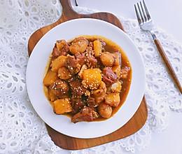 南瓜板栗烧排骨—一只锅就搞定#秋天怎么吃#的做法