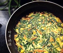 素食之——韭菜煎蛋的做法