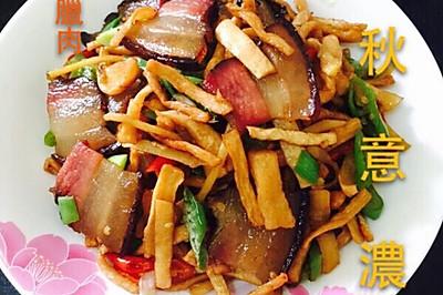 萝卜干炒腊肉(湘菜)