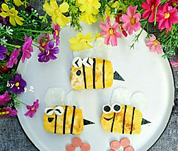可爱的小蜜蜂煎馒头片,宝宝一定喜欢的做法