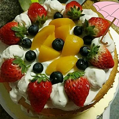 草莓裸蛋糕